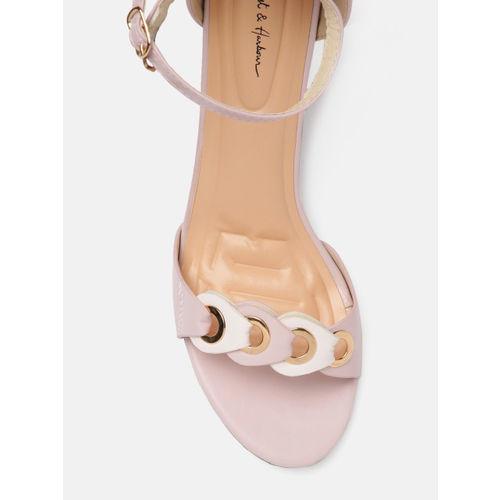Mast & Harbour Women Pink Solid Heels