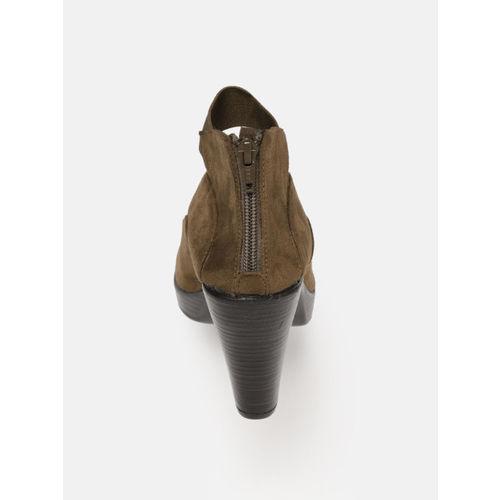 Catwalk Women Brown Solid Open Toe Heels