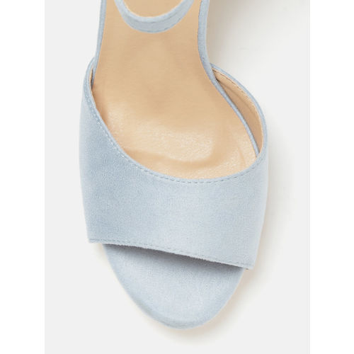 DressBerry Women Blue Solid Block Heels