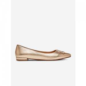 DOROTHY PERKINS Women Gold-Toned Shimmer Ballerinas with Embellished Detail
