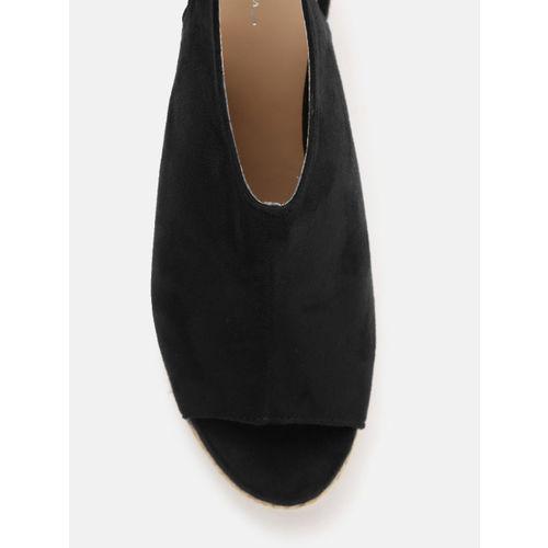 Mast & Harbour Women Black Solid Peep Toes