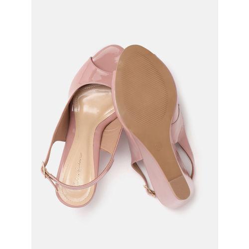 Mast & Harbour Women Pink Solid Peep Toes
