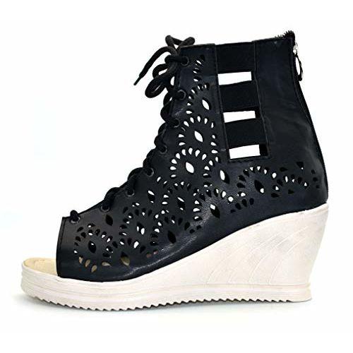 Ziaula Womens Roman Fashion Wedges Heel Sandal