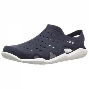 Ethics Navy Blue Rubber Slip On Clogs