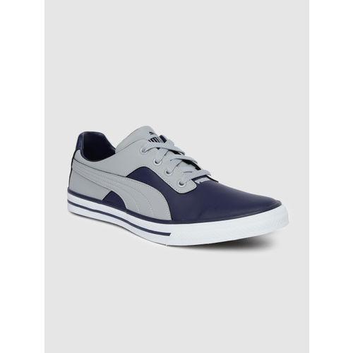 Puma Unisex Navy Blue & Grey Colourblocked Slyde Chrome IDP Sneakers