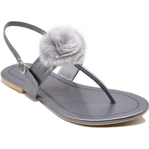 Myra Women Silver Flats