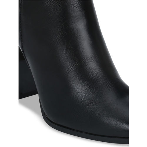 Truffle Collection Women Black Solid Heeled High-Top Boots