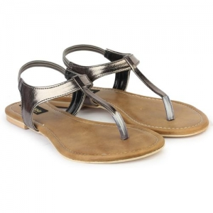 Shoetopia Women Grey Flats