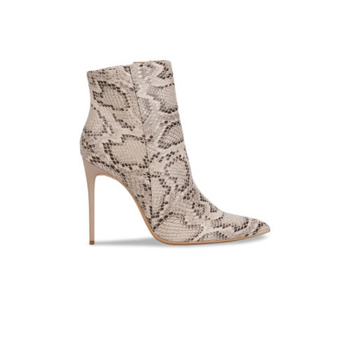 Truffle Collection Women Beige Printed Heeled Boots