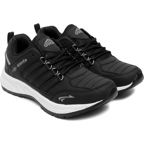 Asian Black Sports Shoes,Running Shoes,Walking Shoes,Training Shoes, Running Shoes For Men(Black)