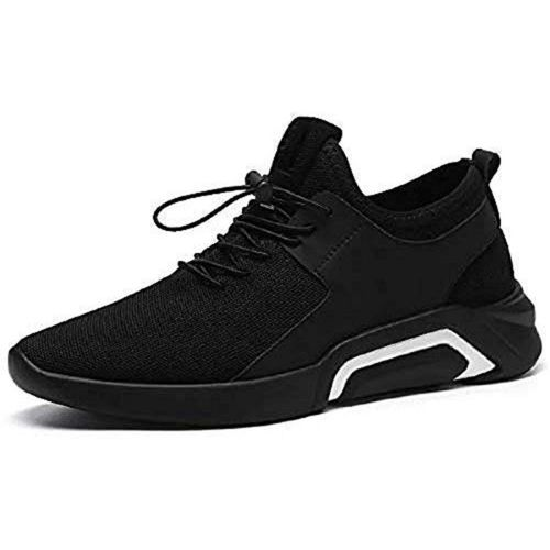 SUSON comfortable breathable mesh running shoes Running Shoes For Men(Black)