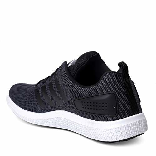 Bacca Bucci Black Mesh Lace Up Running Shoes