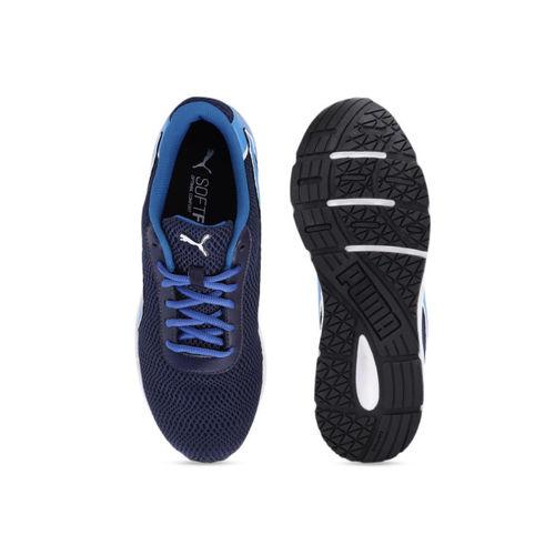 Puma Men Navy Blue Metal Knit Mesh Running Shoes