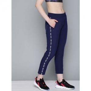 HRX by Hrithik Roshan Women Navy Blue Solid Slim Fit Training Track Pants