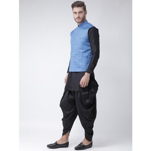 DEYANN Men Blue Printed Woven Nehru Jacket