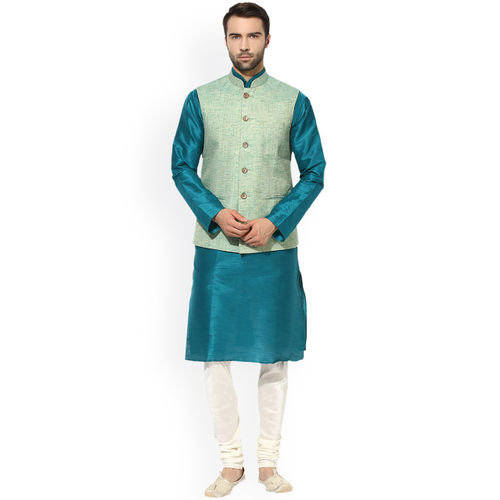 KISAH Green Nehru Jacket
