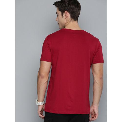 Kook N Keech Marvel Men Red Solid Round Neck T-shirt