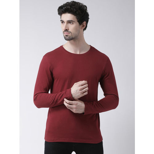 Friskers Men Pack Of 2 Solid Round Neck T-shirts