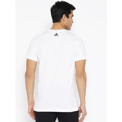 ADIDAS Men White Printed Must Haves Photo Athletics T-shirt