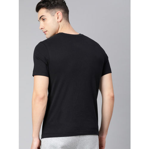 Nike Men Black Printed Round Neck Dri-Fit T-shirt