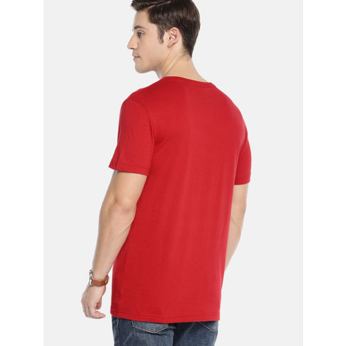 AMERICAN EAGLE OUTFITTERS Men Red Classic Fit Printed Round Neck T-shirt
