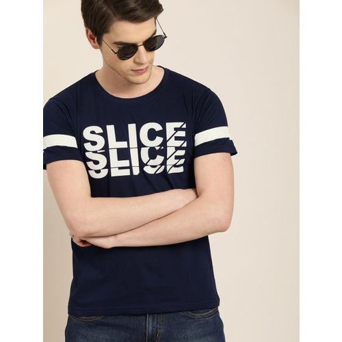 Moda Rapido Men Navy Blue Printed Round Neck T-shirt