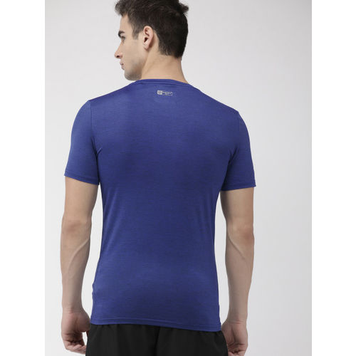 Superdry Men Blue Printed ATHLETIC CORE Round Neck T-shirt