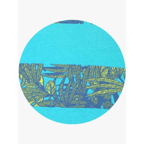 Alcis Men Blue Printed Round Neck T-shirt
