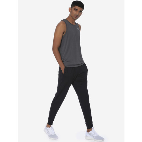 one8 x PUMA Men Grey Self Design Round Neck T-shirt