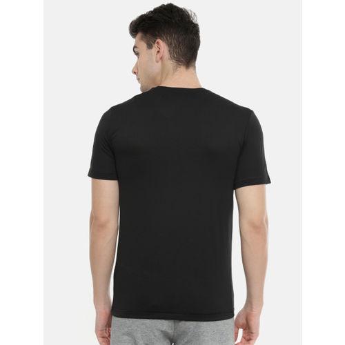 Puma Men Black Printed Active Big Logo Drycell Round Neck T-shirt
