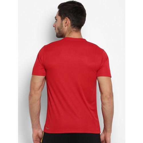 Yuuki Men Red Printed Round Neck T-shirt