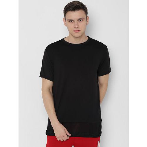 SKULT by Shahid Kapoor Men Black Solid Round Neck T-shirt