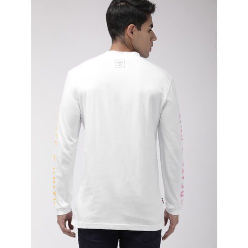 Tommy Hilfiger Men White Placement Printed Round Neck T-shirt