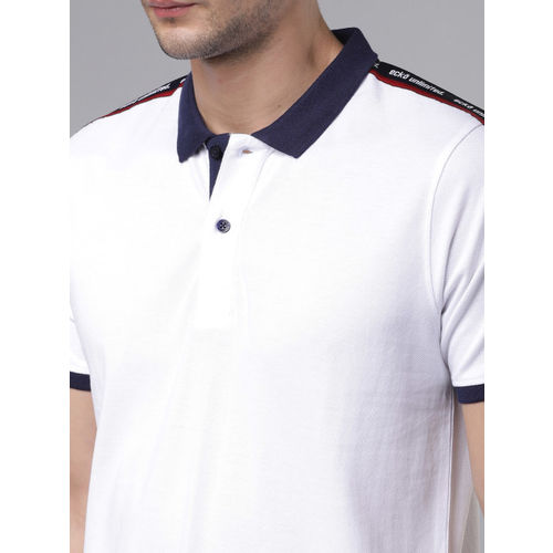 Ecko Unltd Men White Printed Polo Collar Slim Fit T-shirt