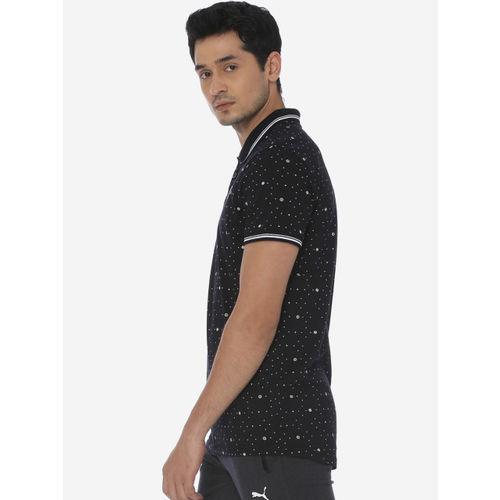 one8 x PUMA Men Black Printed Polo Collar T-shirt