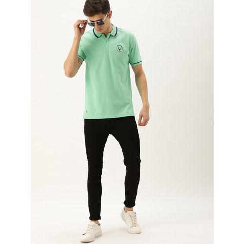 Allen Solly Sport Men Lime Green Solid Polo Collar T-shirt