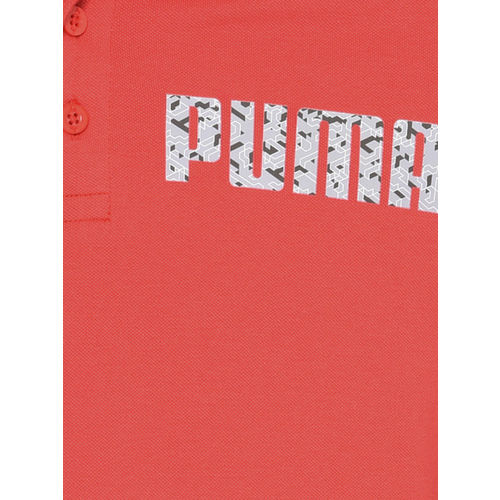 Puma Men Red Printed Graphic Polo VII T-shirt