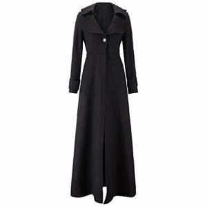 Sttech1-women clothes Girl's Slim Fitting Woolen Coat with Long Coat Self Cultivation Mopping Windbreaker Overcoat Outwear