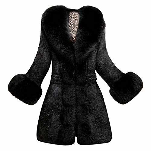 Beishi Women Faux Fur Coat Fashion Elegant Thick Warm Outerwear Ladies Solid Plush Long Jacket