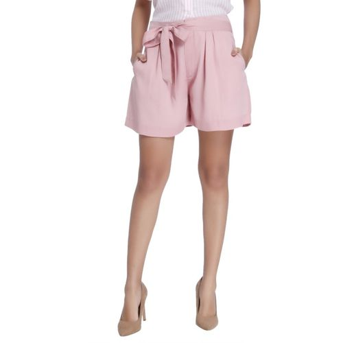 Vero Moda Solid Women Pink Skort