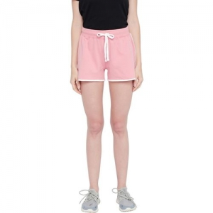 Ajile by Pantaloons Solid Women Pink Regular Shorts