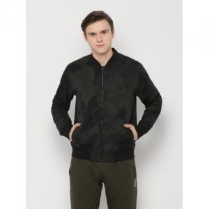SKULT Dark Green  Polyester  Full Sleeve Printed Jacket