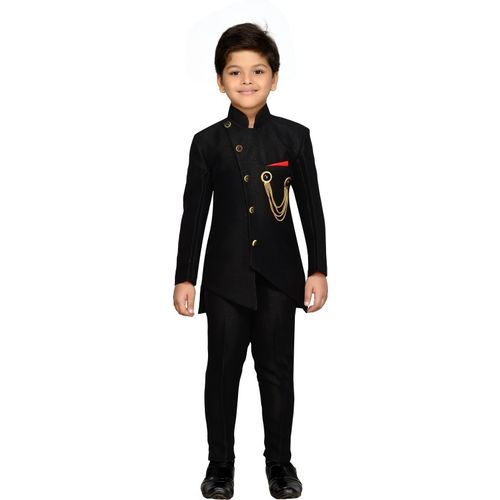 AJ Dezines Indi Boys Festive & Party Blazer and Pant Set(Black Pack of 1)