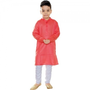 FTC FASHIONS Boys Festive & Party Kurta and Pyjama Set(Red Pack of 2)