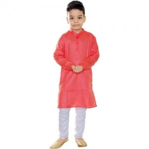 FTC FASHIONS Boys Festive & Party Kurta and Pyjama Set(Red Pack of 2)