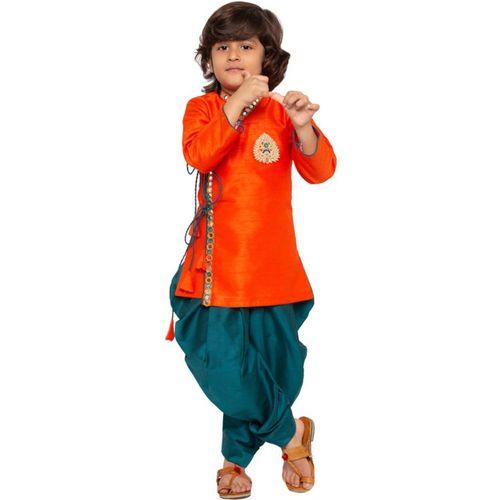 JBN Creation Boys Festive & Party, Formal, Casual, Wedding Kurta and Dhoti Pant Set(Orange Pack of 1)