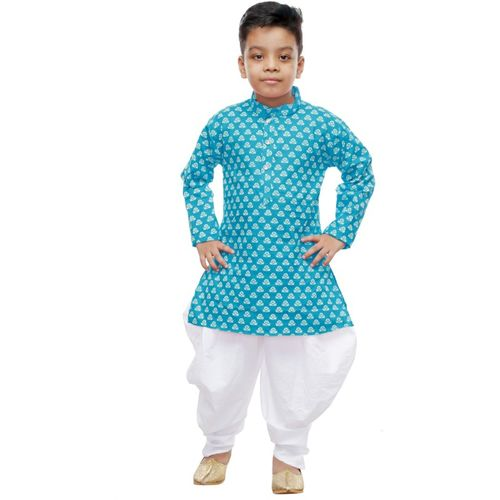 NFC Boys Casual, Festive & Party Kurta and Pyjama Set(Green Pack of 1)