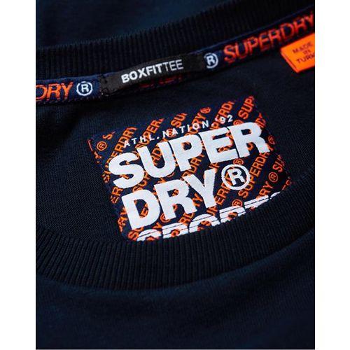 SUPERDRY Retro Stripe Crew-Neck T-shirt with Signature Branding