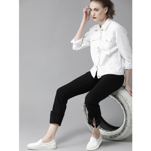 Roadster Women Black Mid-Rise Clean Look Stretchable Jeans