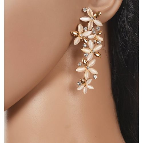 Jewels Galaxy Gold Plated Gold Alloy Dangle Earrings for Women
